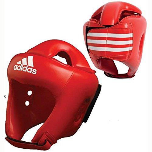 adidas Rookie-Kopfschutz für Boxen, MMA, Kickboxen, PU, Rot, Größe XS/S, M, L, XL (Medium)
