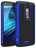 LK Case for Droid Turbo 2, [Shock Absorption] Hybrid Dual Layer Armor Defender Protective Case Cover for Verizon Motorola Droid Turbo 2 (Blue)