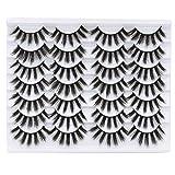 Weyzim 14 Pairs 6D Mink Eyelashes 18~20mm Faux Fluffy Wispy Natural False Eyelashes Long Thick Fake Eyelashes Handmade Reusable wholesale