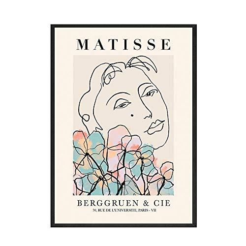 Carteles e impresiones de estilo Matisse, plantas abstractas, pinturas murales coloridas, cuadros de desnudos pinturas en lienzo sin marco A1 30x40cm