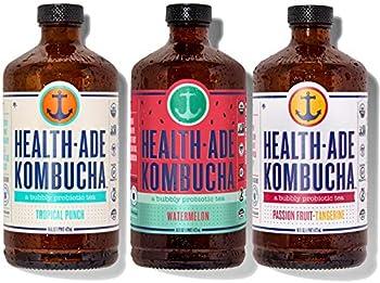 12-Pack Health-Ade Kombucha Tea Organic Probiotic Drink 16 Fl Oz
