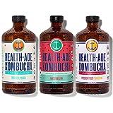 Health-Ade Kombucha Tea Organic Probiotic Drink, 12 Pack Case (16 Fl Oz Bottles), Paradise Variety Pack (Tropical Punch, Watermelon, Passion Fruit-Tangerine)