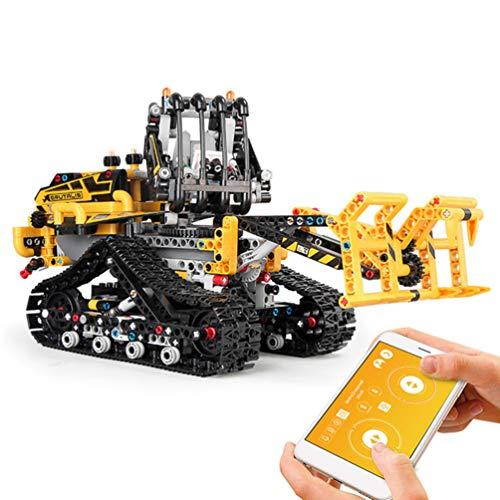 Techniek Heftruck Elektrische Bediening APP Op Afstand Programmeren DIY Gemonteerd Model Auto, ABS Materiaal Puzzel Decoratie 873PCS