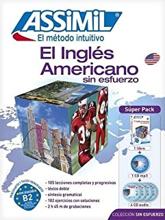Método ASSIMIL - El Inglés Americano - Superpack (1 libro + 1 CD mp3 + 4 CDs audio) - [ American English for Spanish speakers ]