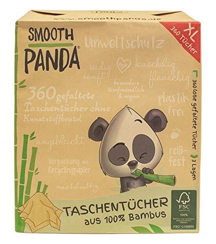Smooth Panda Taschentücher 100% Bambus 360 Stück