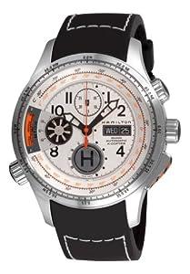 Hamilton Men's H76656353 Khaki 'Aviation X-copter' White Chronograph Dial Watch image