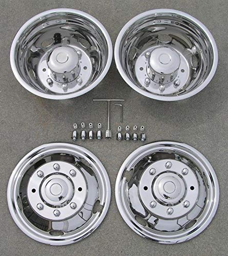 16 Inch Snap On Front Pair 304L Stainless Steel OxGord Wheel Simulators for Select GM Vehicles