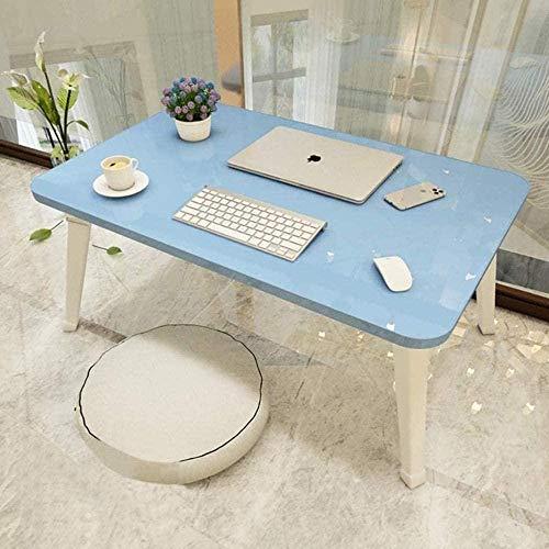 Escritorio de regazo para ordenador portátil, cama de ordenador, mesa pequeña, escritorio, plegable, mesa perezosa, dormitorio o estudiante, escritorio mini escritorio-60 x 30 cm x 30 cm