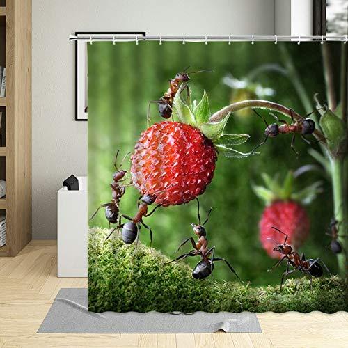 Ameisen Duschvorhang Kreative Tier Natur Insekten Hängende Vorhänge Polyester Stoff Wasserdicht Badezimmer Dekor Mit Haken Bildschirm 30 * 40Cm