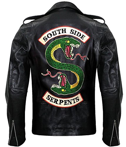 STB-Fashions Superhelden-Lederjacken für Herren Gr. XL, Southside Serpents Lederjacke