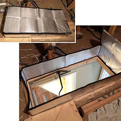 AIMERKUP Cubierta de la Escalera del ático, Tienda de Aislamiento de Las escaleras del ático Kit de aislador de Puerta de Papel de Aluminio de Doble Cara Eco Friendly