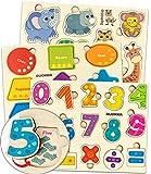 Juguetes Niños 1 2 3 Años - Montessori Juegos Puzzles Infantiles de Madera - Regalo Bebe Animales Educativos para Niñas y Niños 4 5