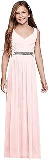 Beaded Waist Long Mesh Junior Bridesmaid Dress Style JB9609