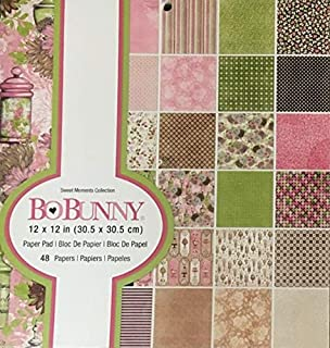 Bo Bunny - Sweet Moments Collection Scrapbooking Paper Pad - 12 x 12 - 48 Pages - Item #:7310473