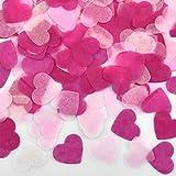 HQdeal 6000 Pièces Confettis en Forme de cœur, Confettis de Table en Papier, Confettis Roses Rouge pour Les Décorations de Fête de Mariage,Baby Shower (Rose Clair, Rose, Rose Rose)