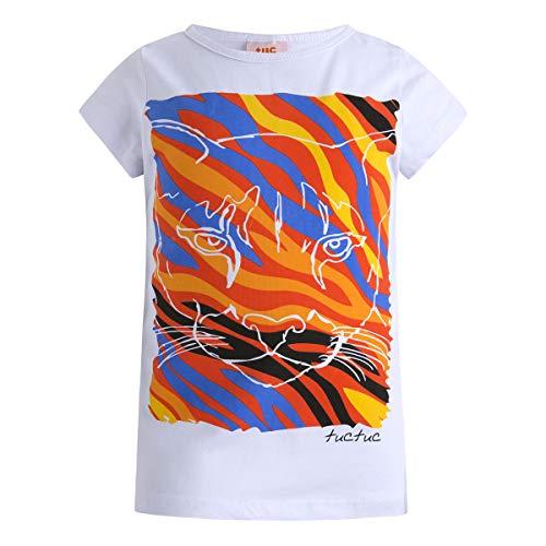 Tuc Tuc Tuc Tuc Mädchen Camiseta Punto Sencilla Niña Good Vibes Unterhemd, Weiß (Weiß 5), 5 Jahre