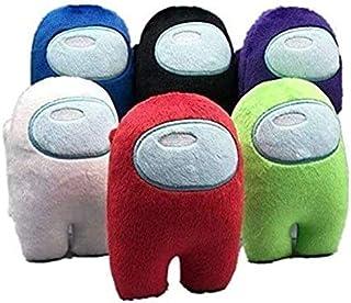 MTCD 6 st spel plyschleksaker, Kawaii fylld docka spelfigurer kreativa små plyschies för pojkar flickor, 6 färger/10 cm