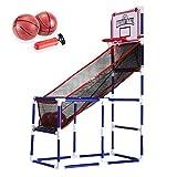 Juego de aro de Baloncesto para niños, Maquina Baloncesto Arcade con Red, 2 Pelota, Bomba de Aire, Canasta Baloncesto Infantil Ahorro De Espacio Y Fácil De Instalar