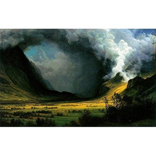 Albert Bierstadt - Storm in The Mountains - Medium - Semi Gloss Print