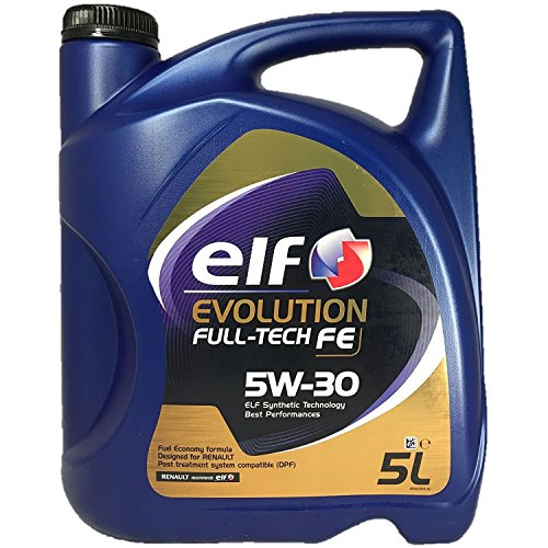 Elf - Aceite de motor Evolution Full-Tech 5W-30, 5 litros, con fórmula Fuel Economy