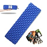 Ultralight Air Sleeping Pad – Inflatable Camping Mat for Backpacking, Traveling and Hiking Air Cells Design...