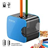 Electric Pencil Sharpeners with Container, USB and Battery Operated, Heavy Duty Electronic Automatic
