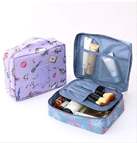 FAIRZOO Nouveau Sac de Rangement de Voyage Multifonctionnel Sac carré Portable Sac cosmétique pour Dames Trousse de Toilette de Voyage Bleu