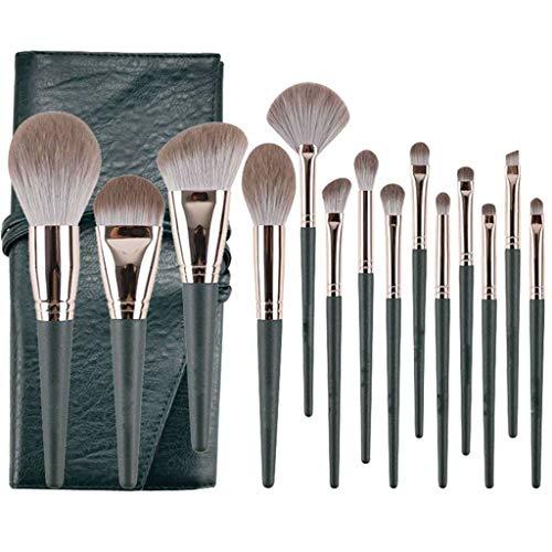 Professionnel Cosmétique Pinceaux Kit,14 Pièces Super Doux Pinceaux Maquillage Brosse à Yeux Pinceau Lèvres Outils De Beauté Pour Débutant Professionnel Maquillage-C