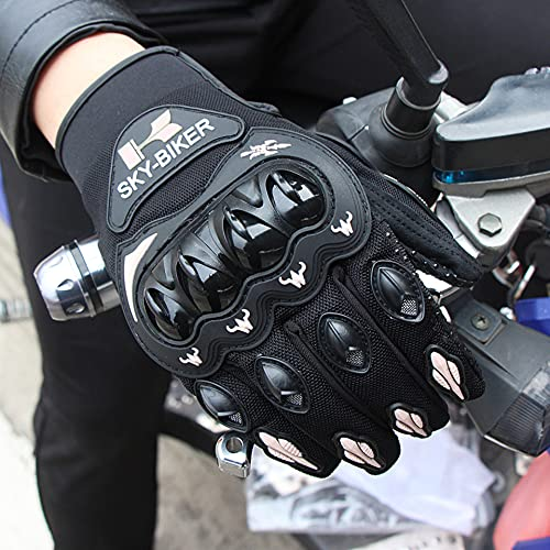 Guantes Protectores para Deportes al Aire Libre, Carreras de Motos de Cross-Country, Bicicletas, Color gris-M-B101