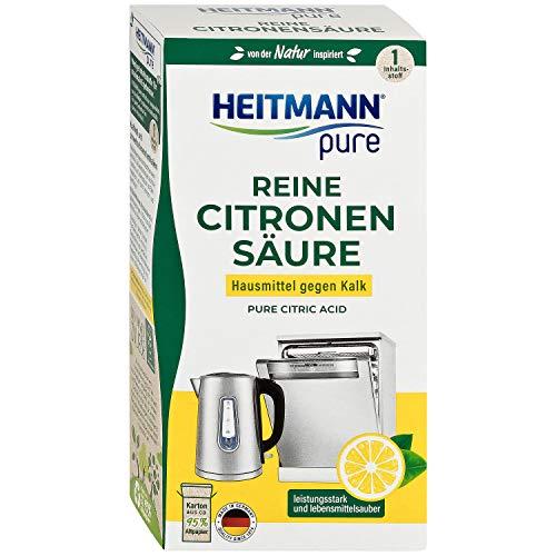 HEITMANN pure Reine Citronensäure: Ökologischer Bio-Entkalker, Mittel für Küche & Bad, Pulver,...