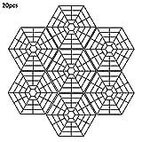 ZY123 20PCS Protettori per Laghetto Protezione in Rete Leggera in Plastica Leggera Contro ...