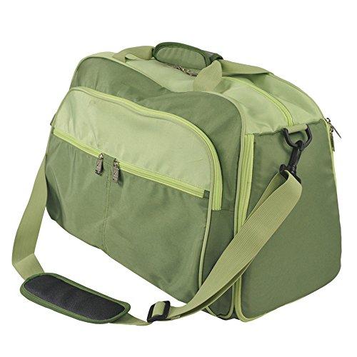 MIMI KING Angeln Stuhl Gepäcktasche mit Klappstuhl Casual Große Kapazität Kurze Reise Umhängetasche Männer und Frauen Tragbare Handtasche 55 * 23 * 32 cm,Green