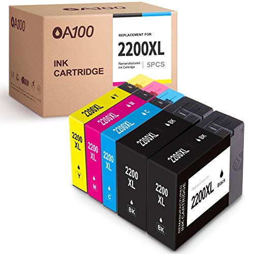 OA100 Compatible Ink Cartridge Replacement for Canon 2200 XL PGI-2200XL 2200XL for MAXIFY MB5420 MB5120 MB5020 MB5320 iB4020 iB4120 (2 Black, 1 Cyan, 1 Magenta, 1 Yellow, 5-Pack)