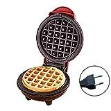 Brownrolly Mini Macchina per Waffle per Uso Domestico con Piastra Rotonda elettrica...