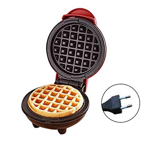 Brownrolly Mini Macchina per Waffle per Uso Domestico con Piastra Rotonda elettrica Portatile da 350 W con indicatore Luminoso per Pancake, Biscotti, Uova e Altri in Viaggio Colazione, Pranzo e Snack