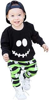 RETUROM-Ropa, Ropa para Bebe, 2018 Niños Niñas Otoño Invierno de Manga Larga Camiseta y Pantalones Cortos Ropa Conjunto