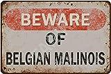 Tarika Beware of Belgian Malinois Iron Poster Vintage