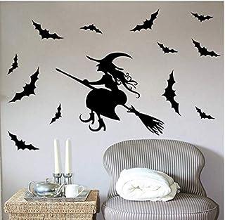 ملصقات الحائط الإبداعية هالوين الخفافيش الساحرة غرفة المعيشة غرفة النوم زجاج نوافذ ديكور مم