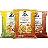 Quaker Rice Crisps, Gluten Free, 3 Flavor Sweet Variety Mix, Single Serve, 0.91 Ounce, Pack of 30