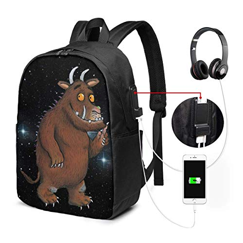 Lawenp The Gruffalo Laptop Backpack 17 Inch College School Backpack with USB Charging Port Casual Daypack for Travel