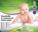 Wasserdichter Matratzenschoner SPANNBETTUCH für Kinder 60x120 - Dry N Comfort - Baby mattress protector-Europäisches Premiumqualität 5 Jahre Garantie
