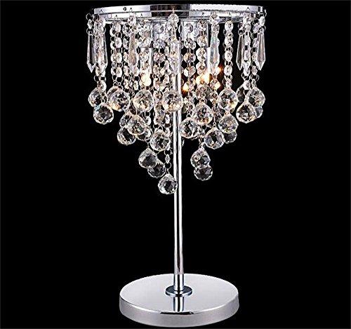 Jack Mall Modo creativo K9 da tavolo in cristallo lampada moderna decorazione di cerimonia Camera cinese comodino Soggiorno Lamp (Colore : Grandi)