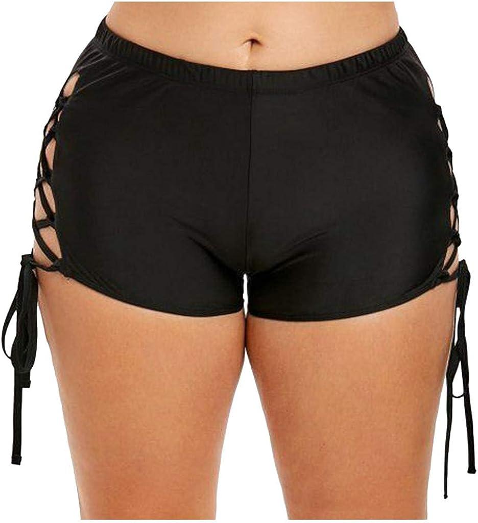 Tankini Bottoms for Women, DEATU Swimsuit High Waisted Strappy Bottoms Bikini Boyshorts Swim Shorts Swimwear Bottoms