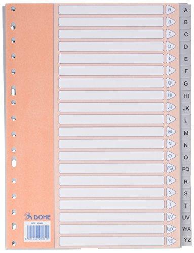 Dohe Basic - Índice A4, A-Z, 20 posiciones, color gris
