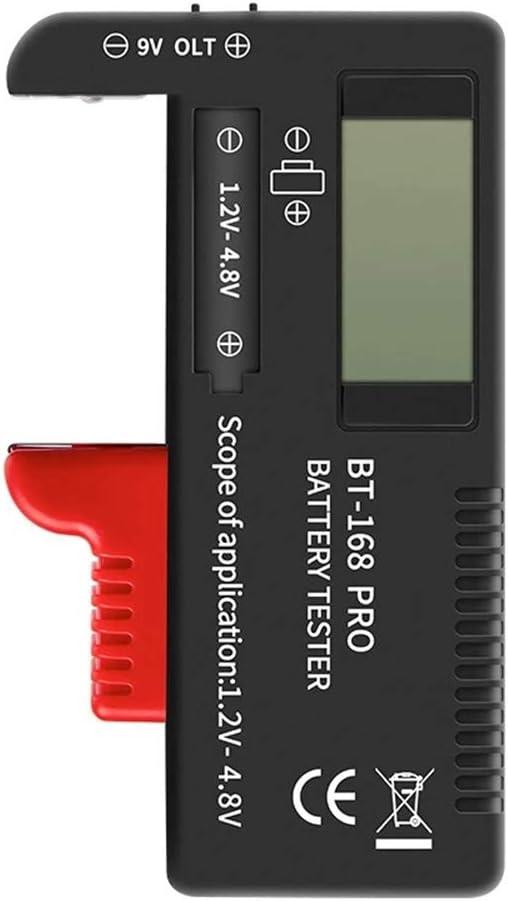 SEADEAR Digital Battery Tester Battery Volt Checker Universal AA AAA C D 9V Button Checker Battery Monitor
