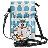 Bolso cruzado pequeño bolso para teléfono celular Doraemon