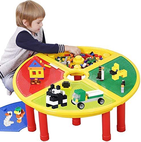 Lernspielzeug, Granulat, Steck-Tisch, Holztisch, großer runder Tisch, multifunktionales fächerförmiges Spiel, Spiele für Jungen und Mädchen im Alter von 6 bis 9 Jahren, Farbe 80 * 27 cm
