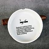 Cenicería de cerámica Inicio Oficina de Moda Redonda Cigarrillo Portátil...