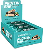 BioTechUSA Protein Bar - barrita de proteínas con alto contenido proteico, sin azúcar añadido, con proteína del suero y colágeno, 16 * 70 g, Mantequilla de cachuete