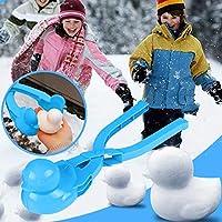 雪遊び 雪鴨クリップ 雪玉クリップ 雪玉づくりスノークリッパーかわいい雪鴨クリップグッズ 雪だま製造機 雪合戦の秘密兵器子供屋外雪玉はアヒル雪クリップ 冬の楽しみ飾り お庭にアヒルさんがいっぱい スノーボールメーカーリップダック スノーサンドモールドツールおもちゃ (Sサイズ-ブルー)